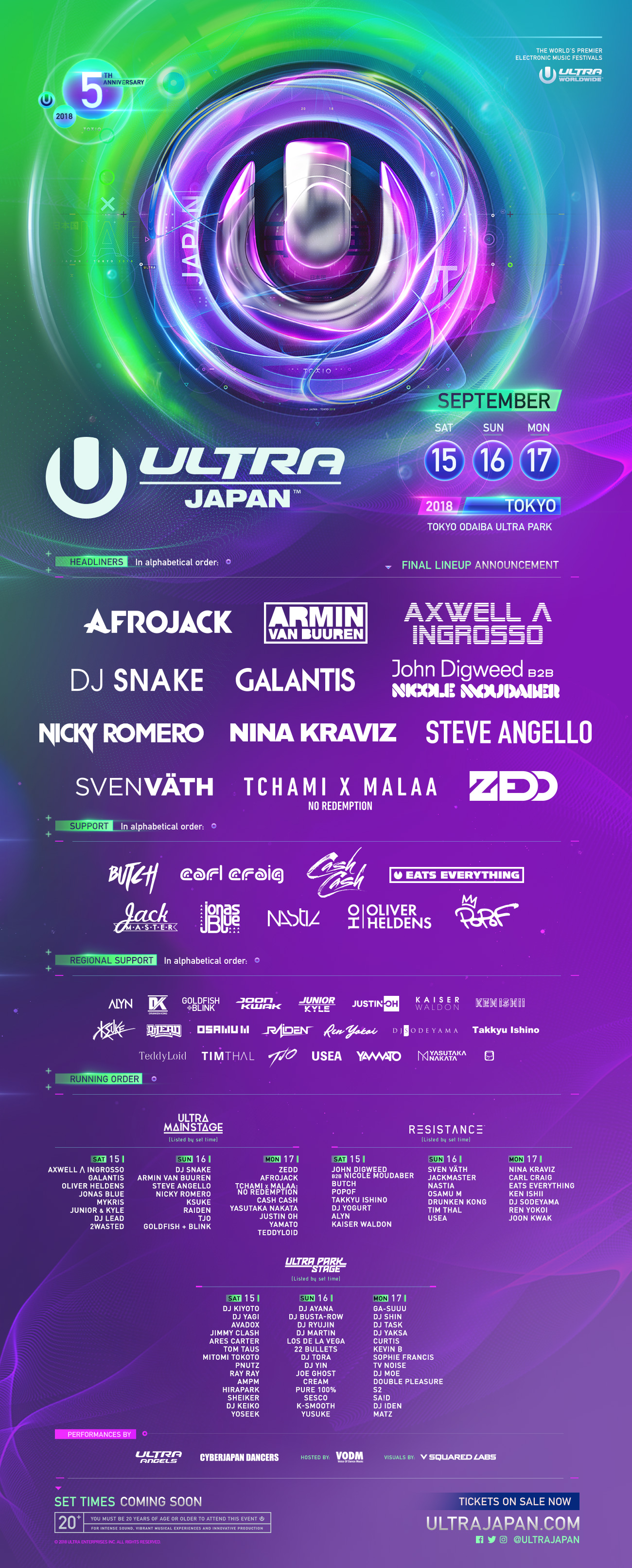 Ultra Japan 2018 Phase 2 with Time