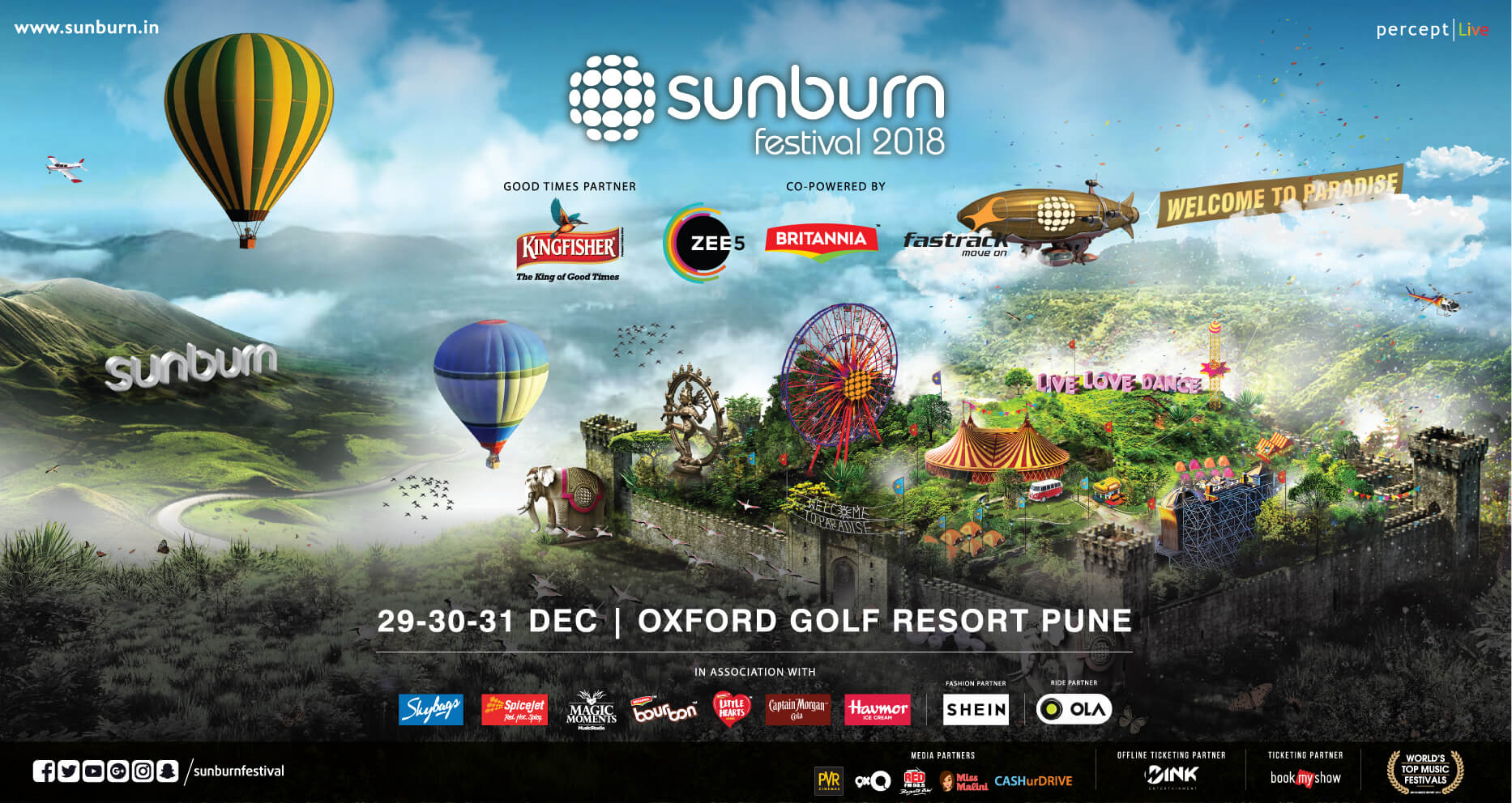 Sunburn 2018 Event Cover