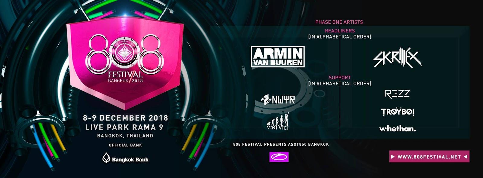808 Festival, Thailand 2018