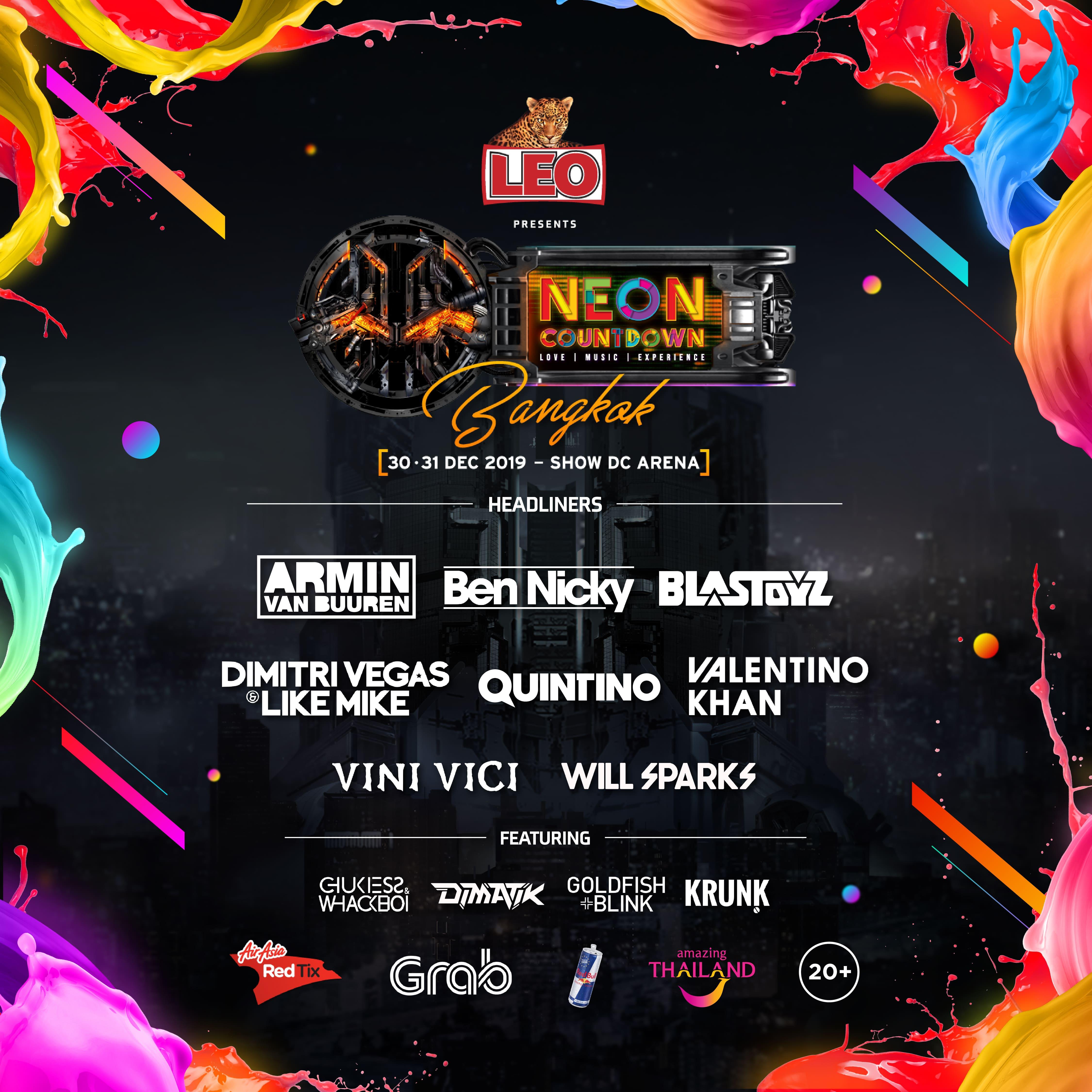 LEO Presents Neon Countdown    Meta Music Festival