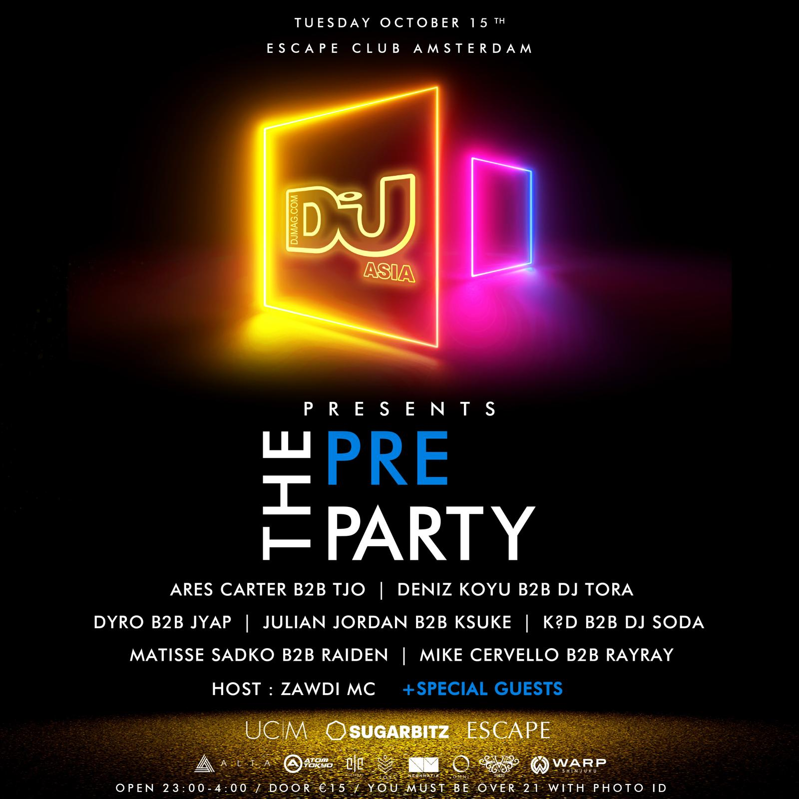 DJ Mag Asia Presents: THE PRE PARTY